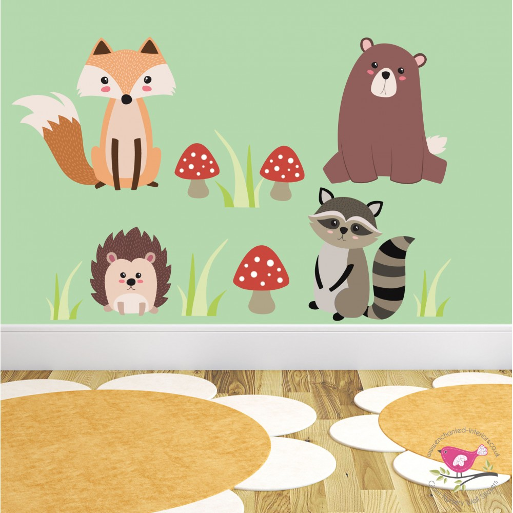 Woodland Animal Nursery Wall Stickers