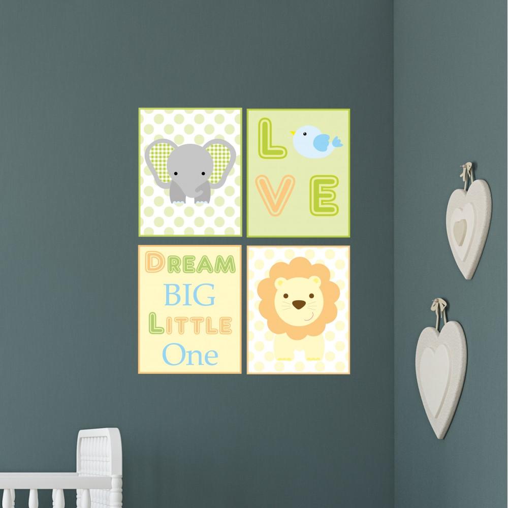 Jungle Nursery Wall Art Prints