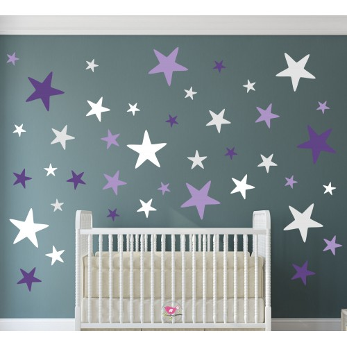 Geometric Stars Ultra Violet Pantone 2018