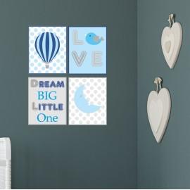 Blue Nursery Wall Prints