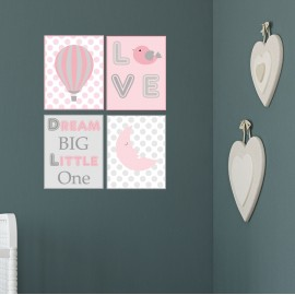 Pink Nursery Wall Prints