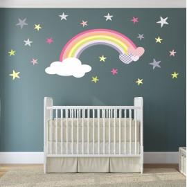 Rainbow Wall Sticker Baby...