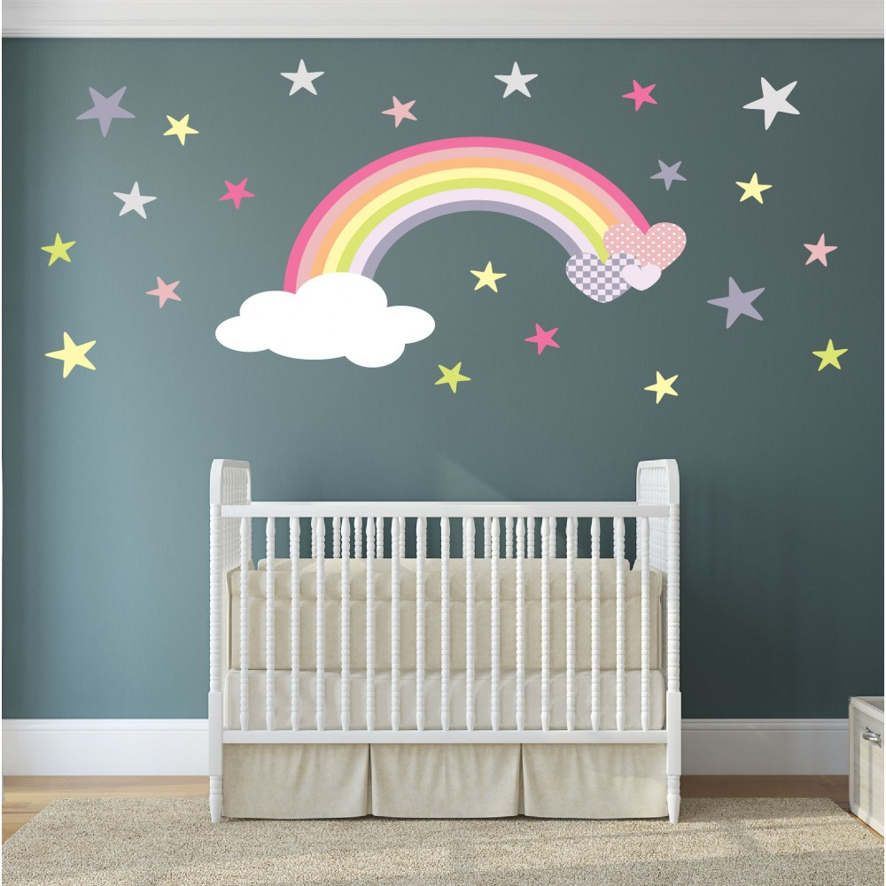 magical nursery rainbow wall sticker