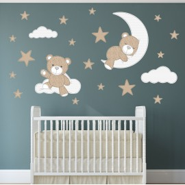 Teddy Bear Wall Stickers Neutral