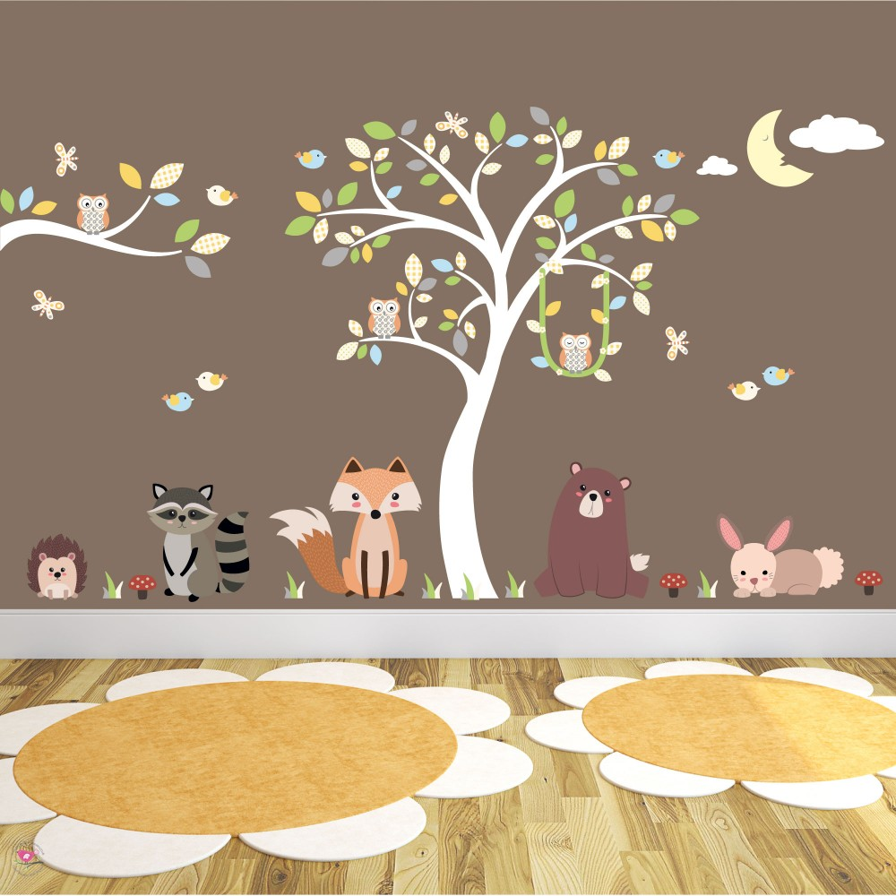 Woodland Forest Nursery Wall Art Sticker