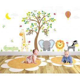 Jungle Animal Nursery Wall...