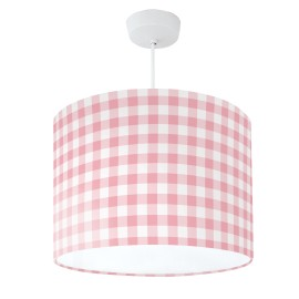 Lampshade Pink & White Check