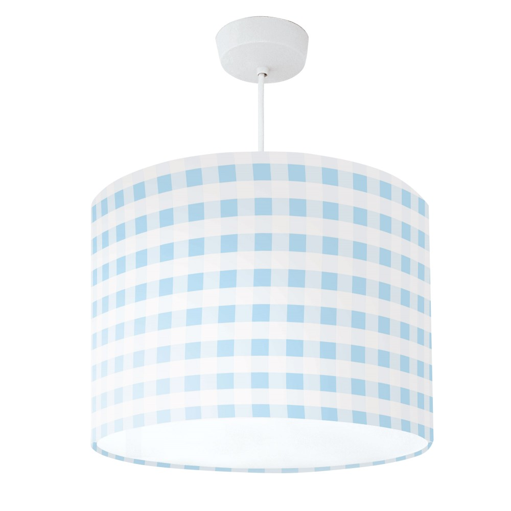 Lampshade Blue & White Check
