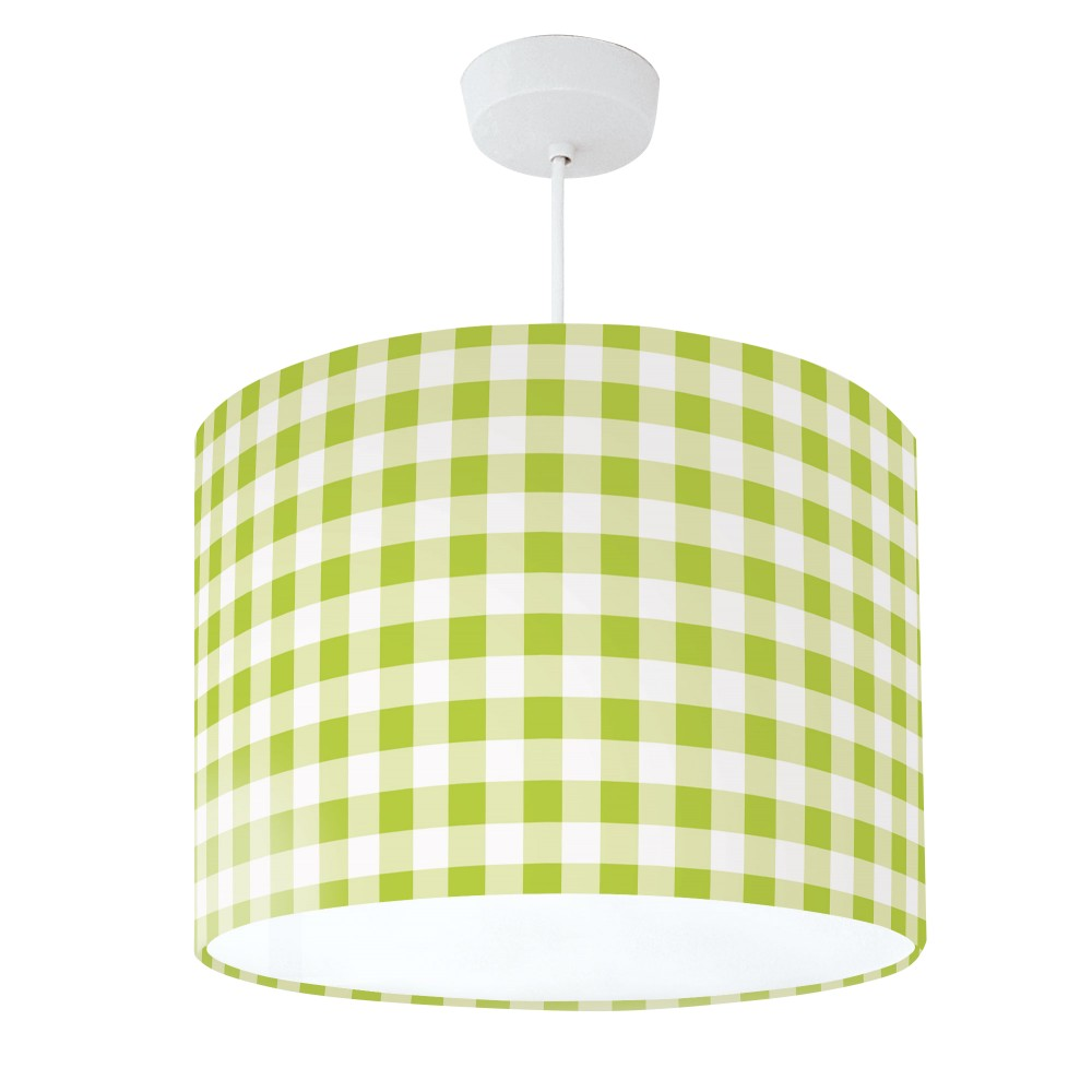 Lampshade Green & White Check
