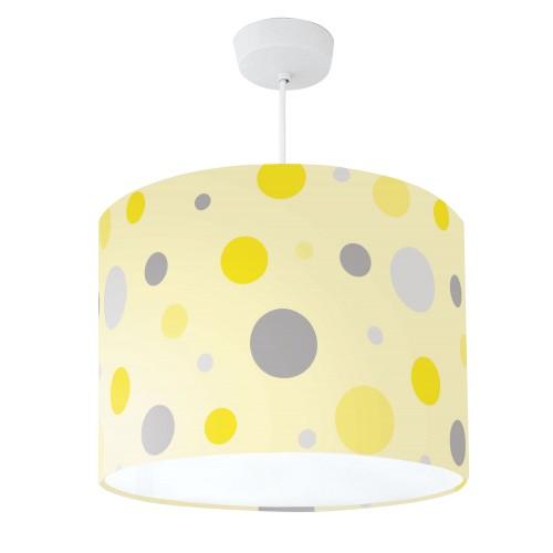 Lampshade Yellow & Grey Spot