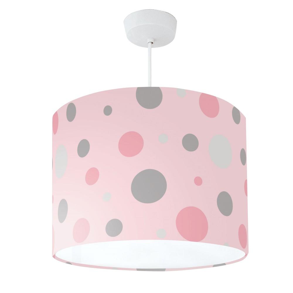 Lampshade Pink & Grey Spot