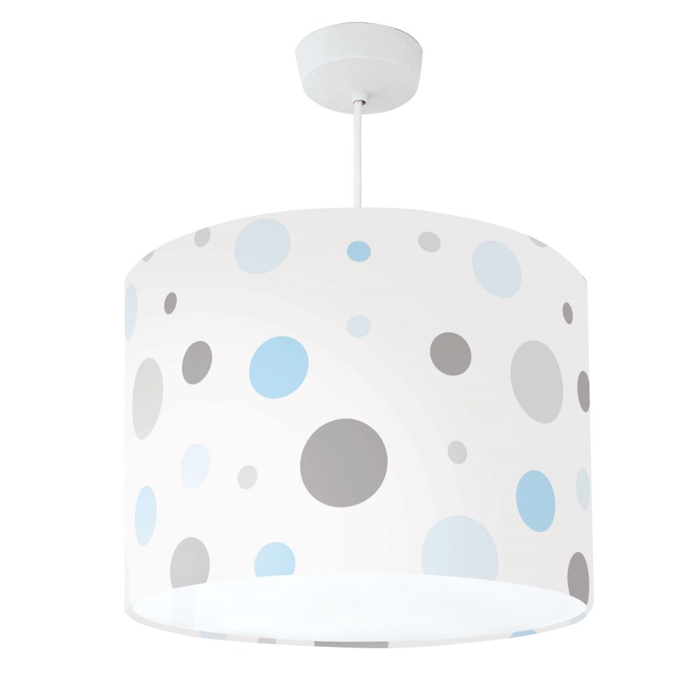 Lampshade Blue Grey & White Spot