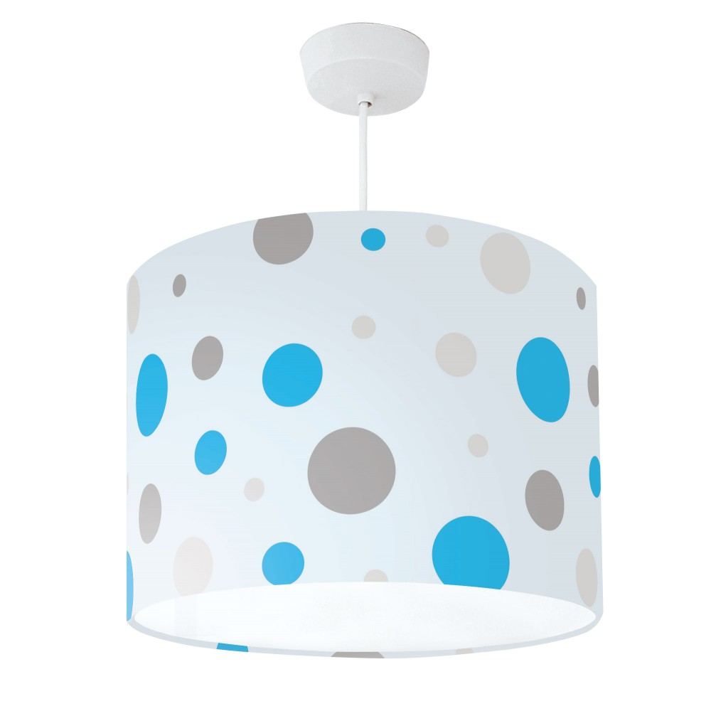 Lampshade Blue & Grey Spot