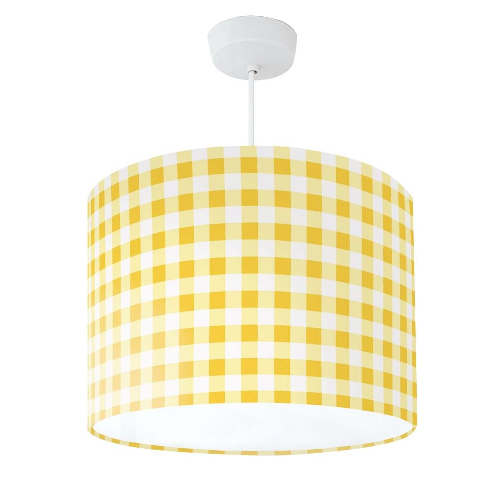 Lampshade Mustard Yellow & White Check