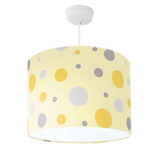 Lampshade Mustard Yellow & Grey Spot