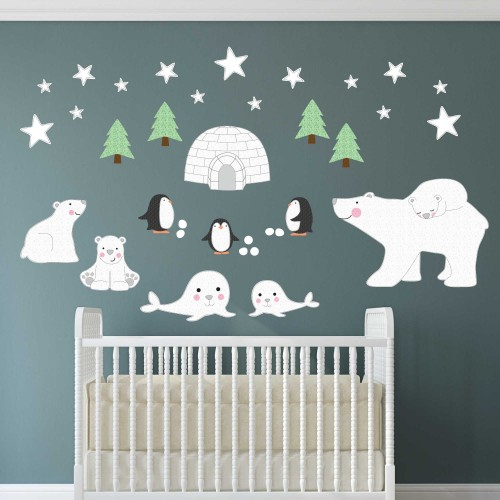Polar Bears, Penguins and Seal Wall Stickers