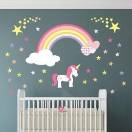 Unicorn Rainbow Heart &...