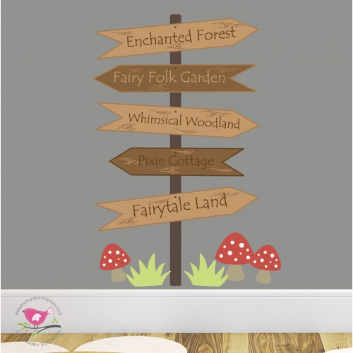 Enchanted Signpost Nursery Wall Decals