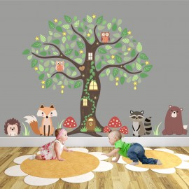 Enchanted Forest Nursery Wall Art Stickers