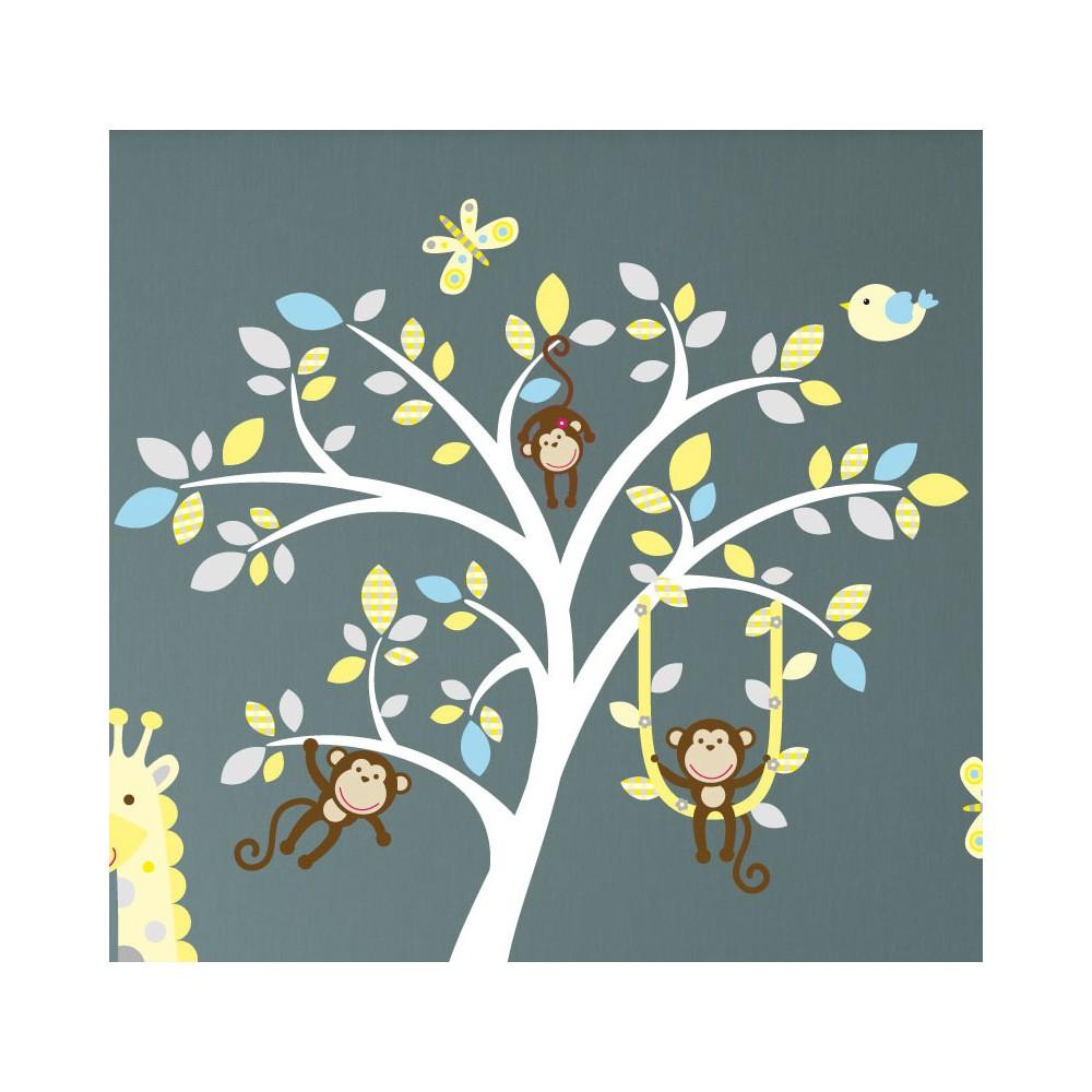 Jungle Animal Nursery Wall Art Stickers