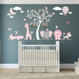 Jungle Animal Nursery Wall...