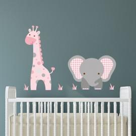 Elephant and Giraffe Wall...