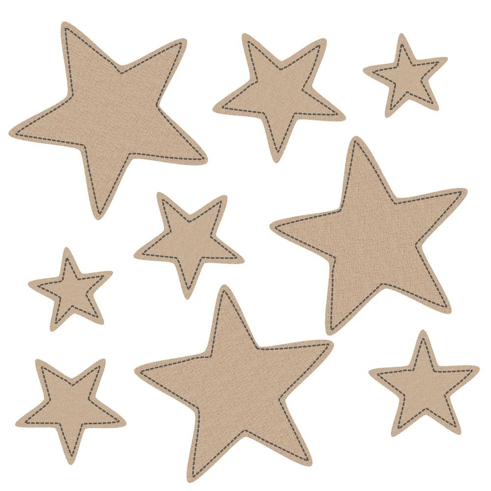 Fabric Stitch Stars