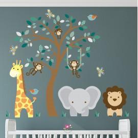 Elephant, Giraffe & Lion...