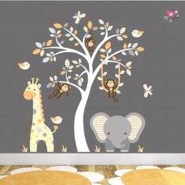 Elephant and Giraffe Orange...
