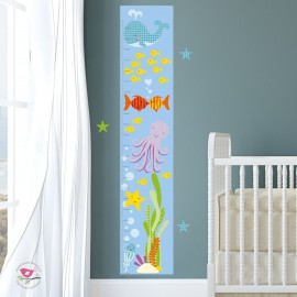 Under Water Growth Chart Decal