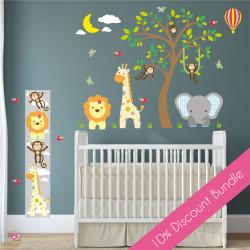 Safari Animal & Tree Wall...