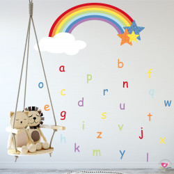 Alphabet Rainbow Wall Stickers