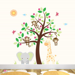 Giraffe and Elephant...