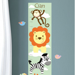 Jungle Animal Growth Chart