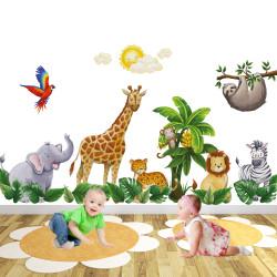 Jungle Animal Wall Stickers...