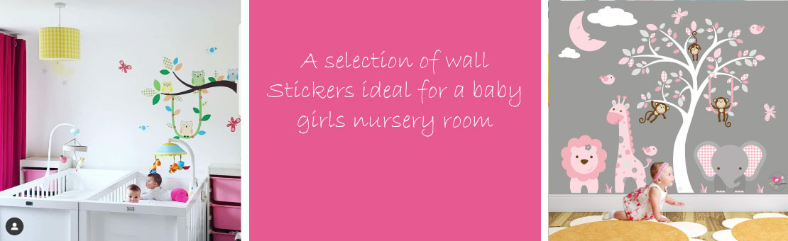 Girls Wall Stickers for a Baby's Nursery Room