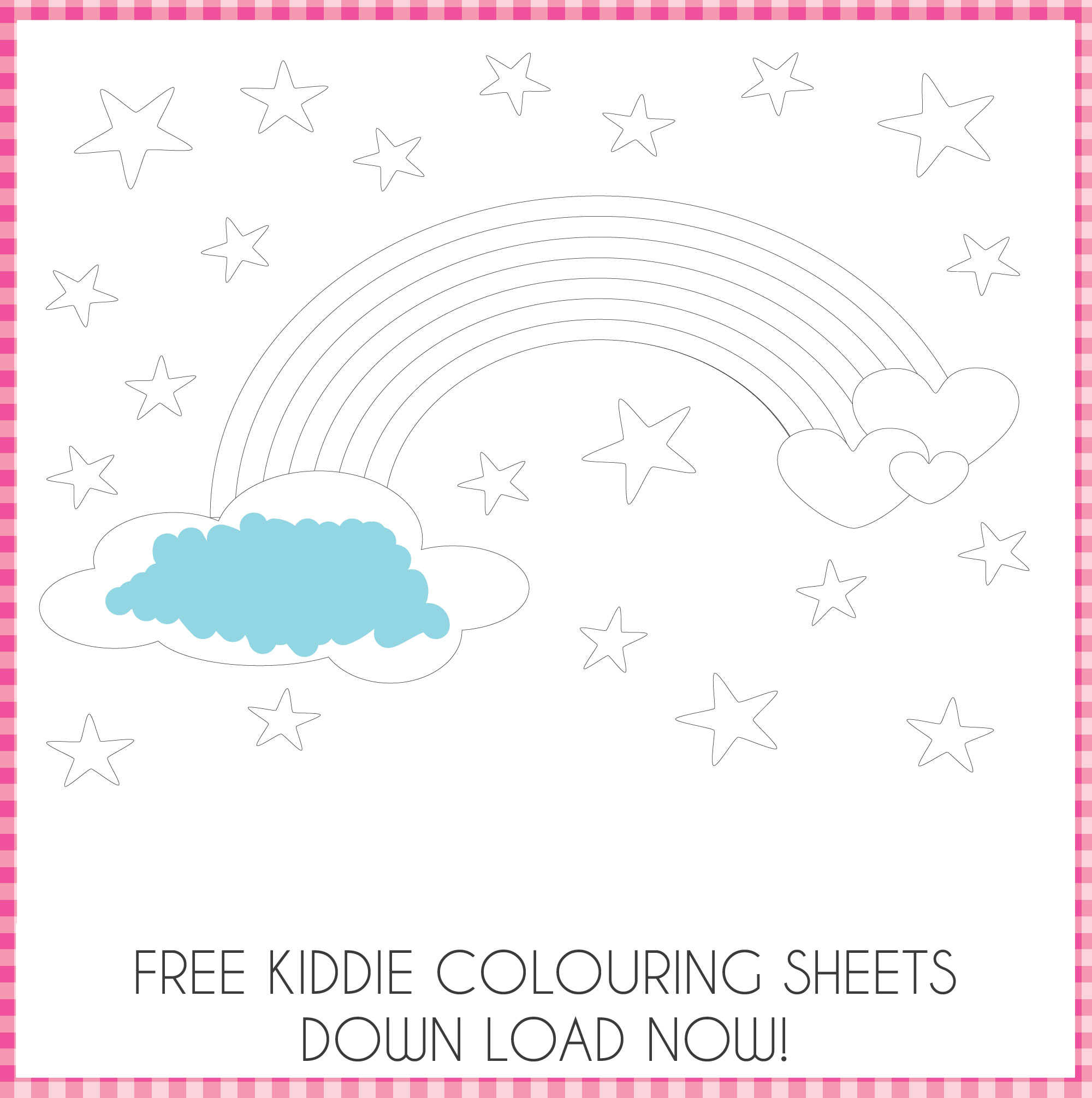 Enchanted Interiors Free Colouring Activity Sheets