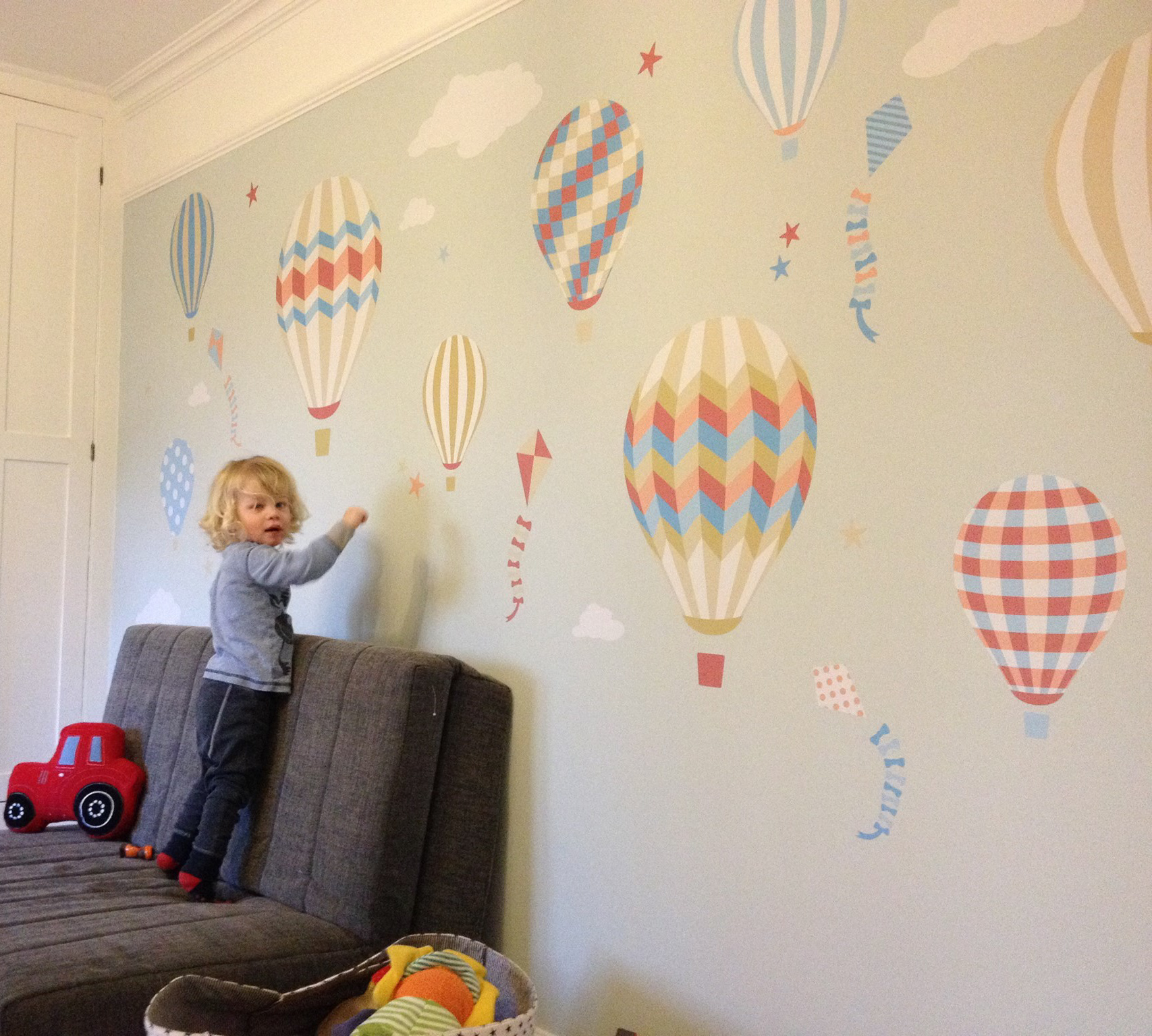 Hot Air Balloon and Kites Nursery Wall Art