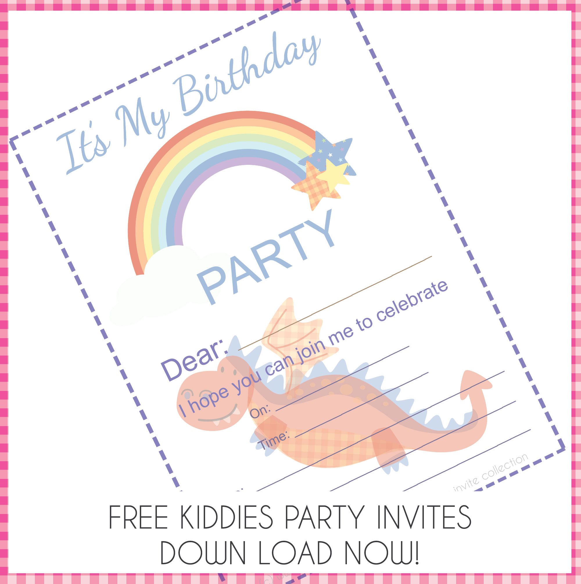 Enchanted Free Downloadable Party Invites