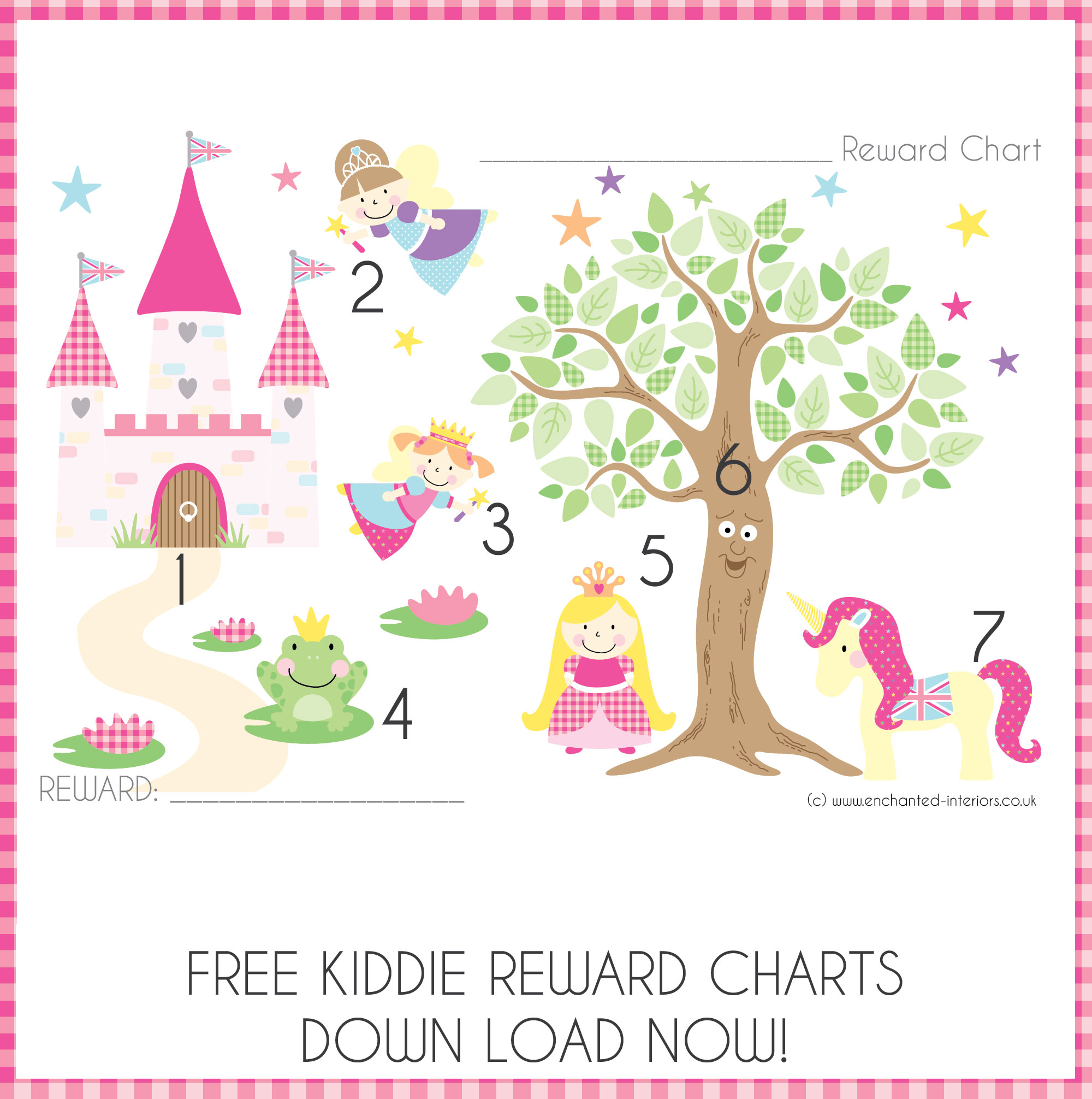 Enchanted Interiors Free Reward Charts