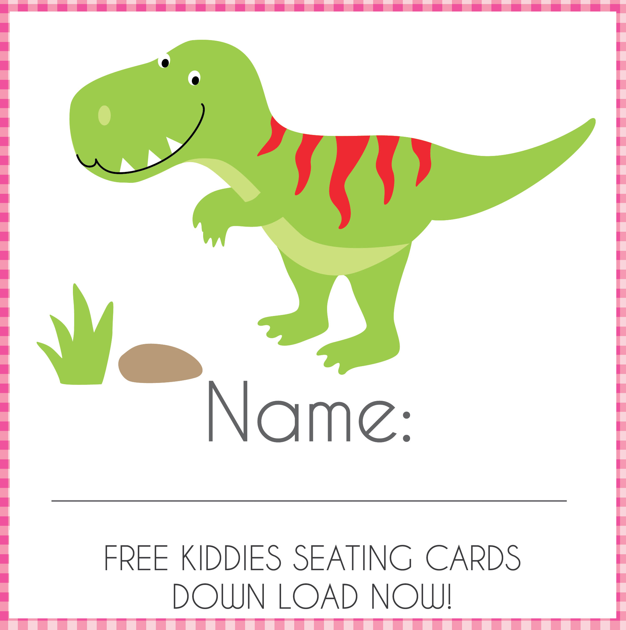 Enchanted Interiors FREE downloadable Party Seating Cards