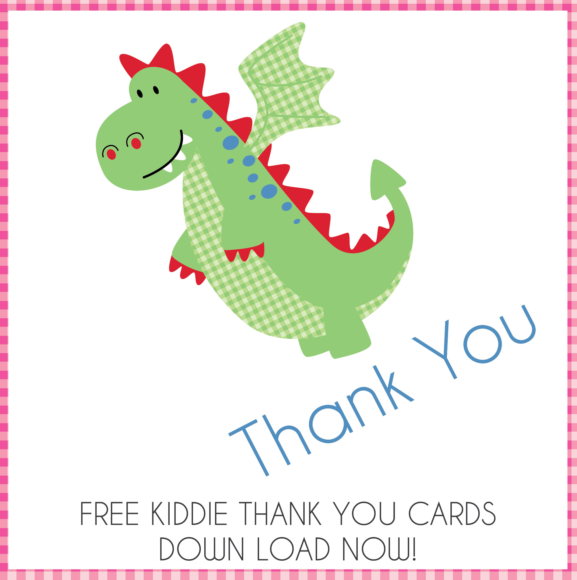 Enchanted Interiors FREE Party Thank You Cards